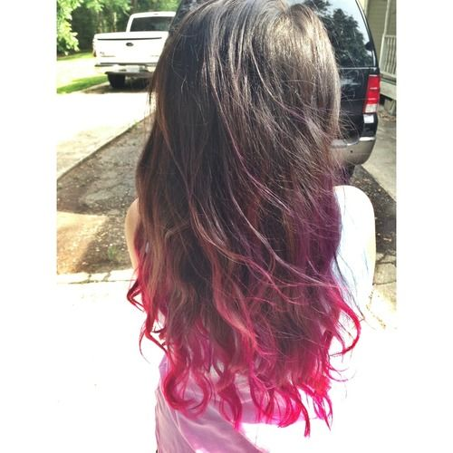black and red ombre hair tumblr black and pink ombre Car ...