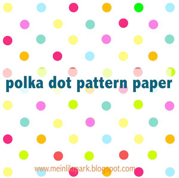 Free digital multicolored polka dot scrapbooking paper - ausdruckbares Geschenkpapier - freebie | MeinLilaPark – DIY printables and downloads