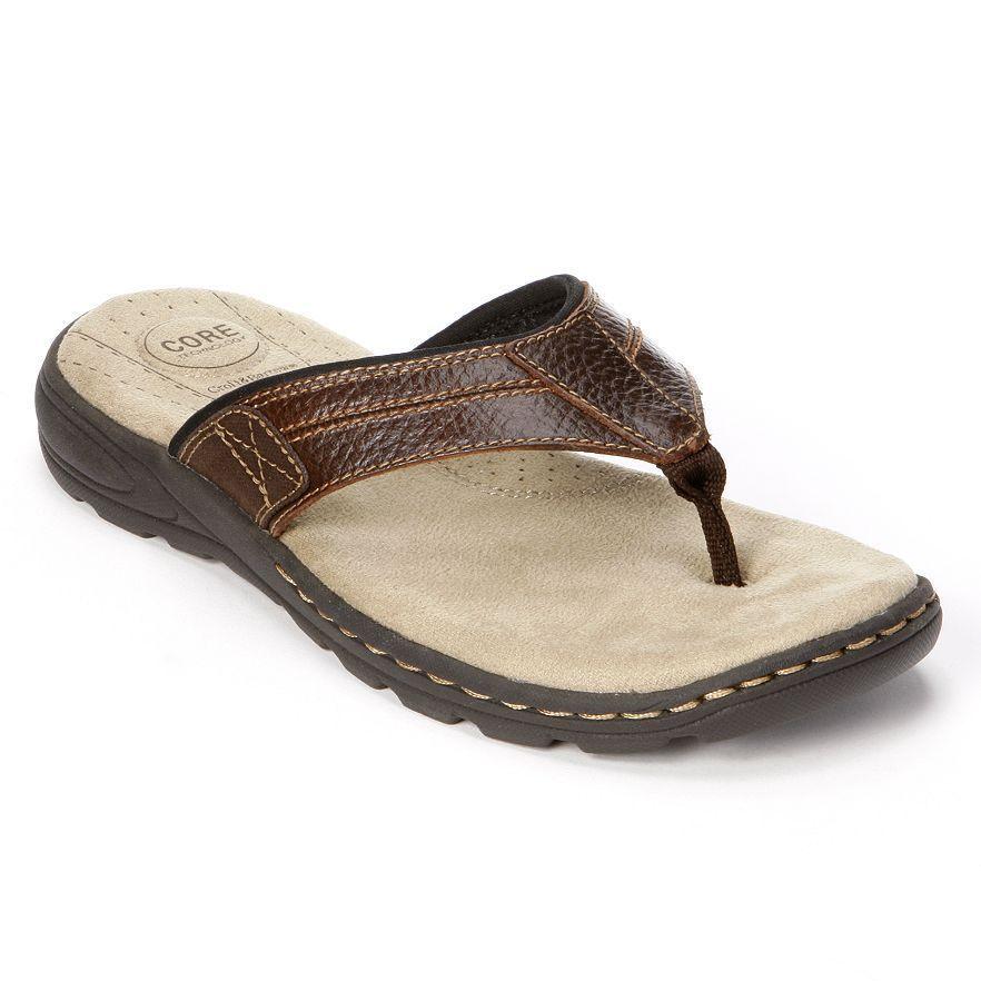 Mens Sandals Kohls Solid Flip Flops Men Brown Sandals Brown Factory Outlet