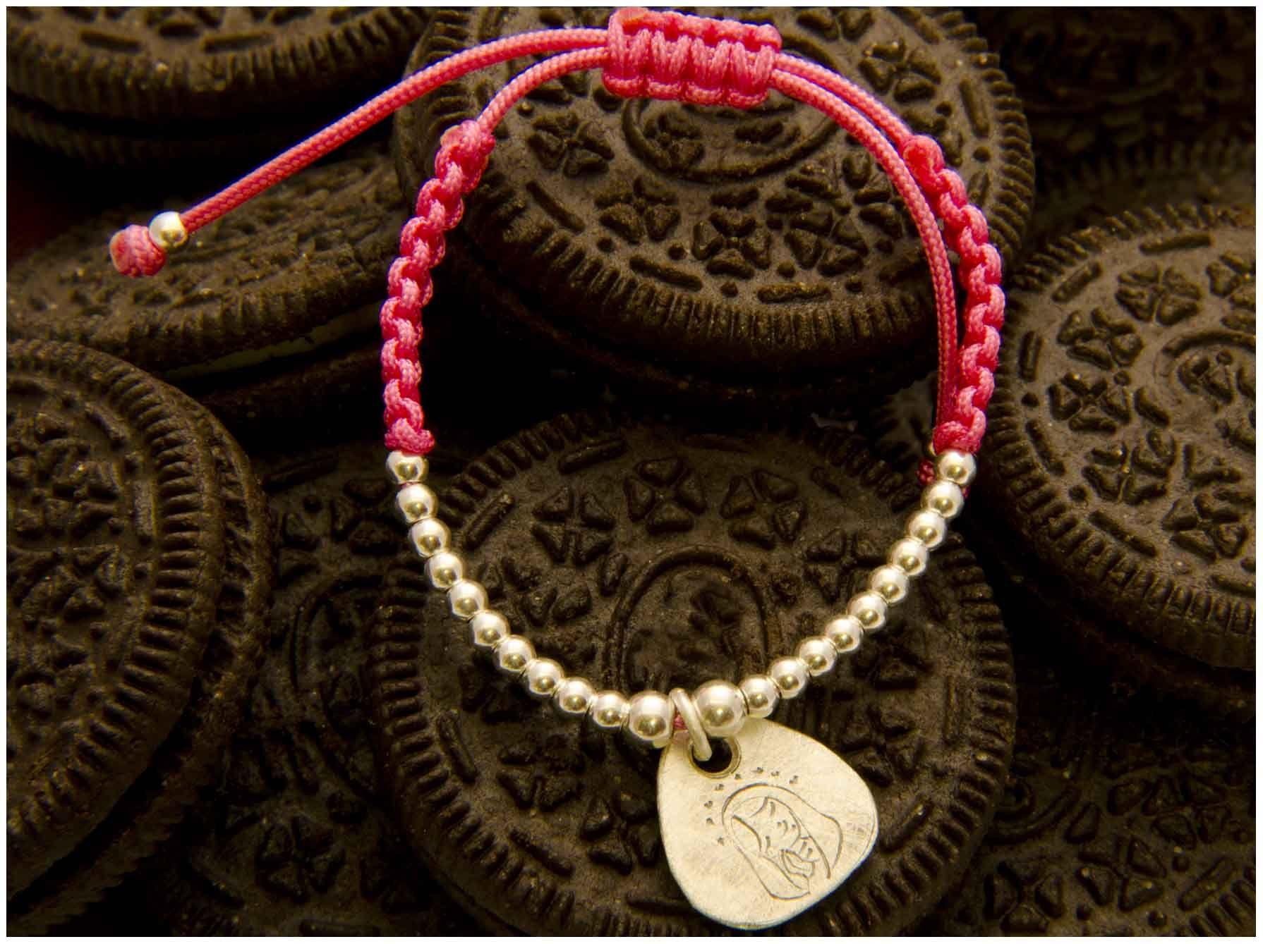 Pulsera comunion medalla Virgen