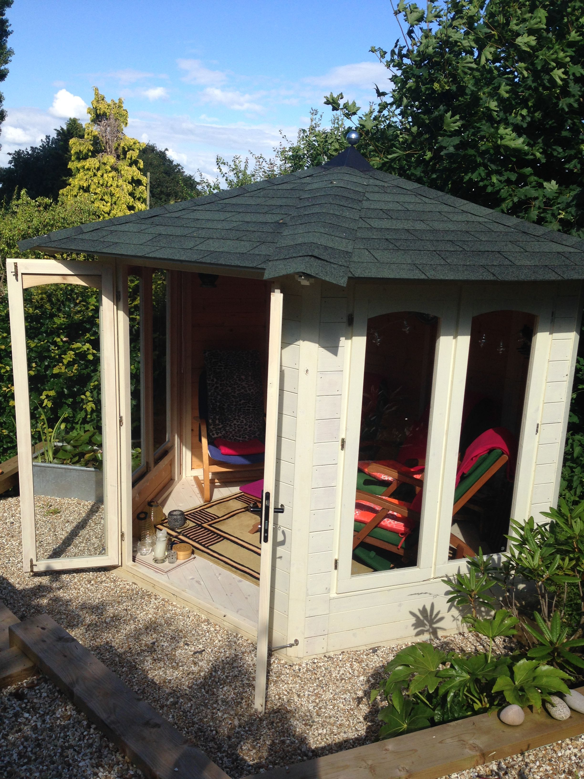 I am a garden designer who uses my Dunster summer house in which to ...