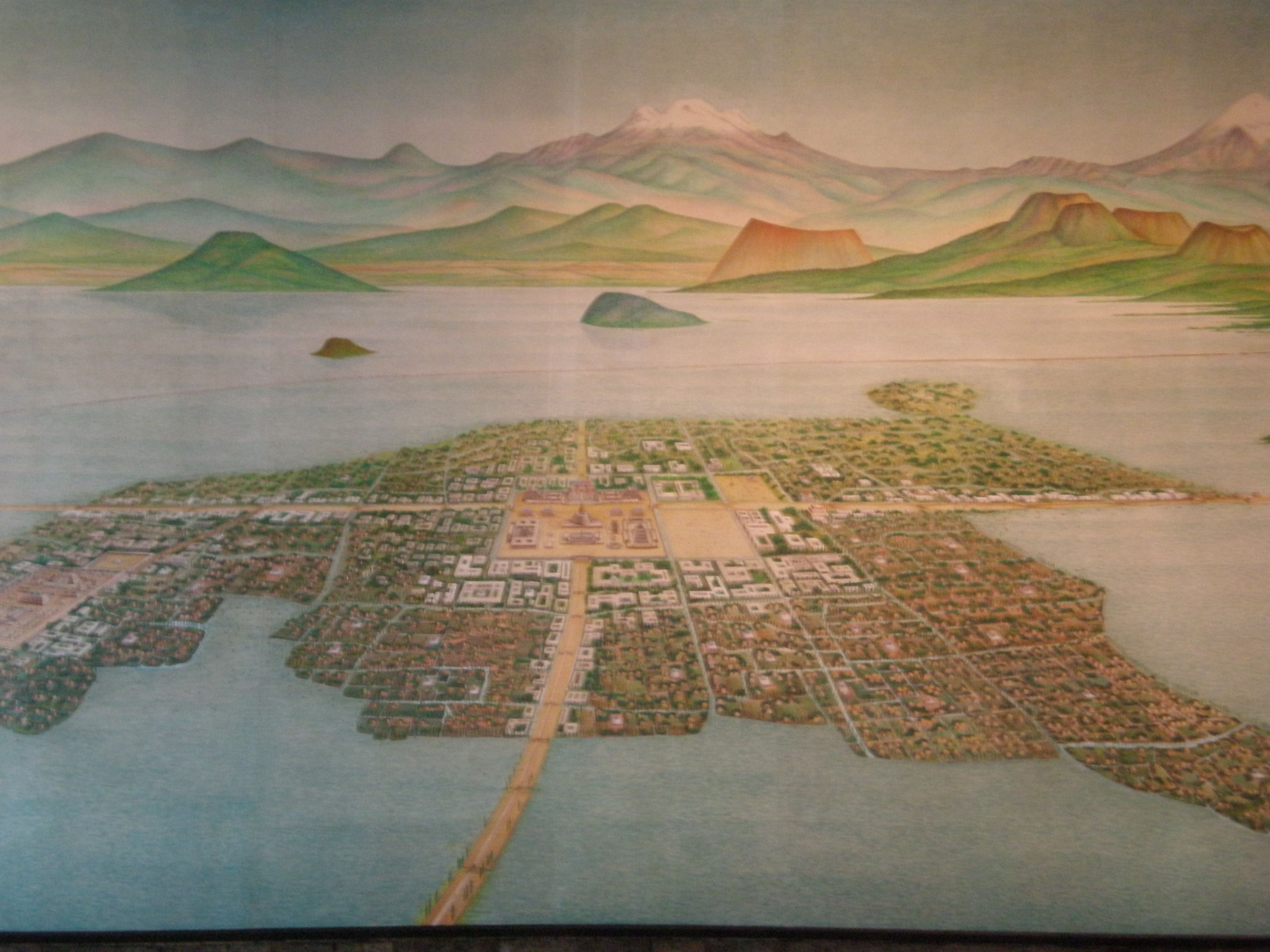 the history of the aztec settlement in tenochtitlan Mexican history the the sight confirmed the prophecy and led them to begin the construction of the city of tenochtitlan aztec noblemen and the clergy.