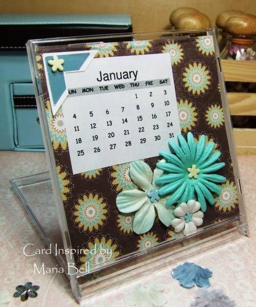 Diy Calendar Card : Cd case calendar january by cardinspired cards and