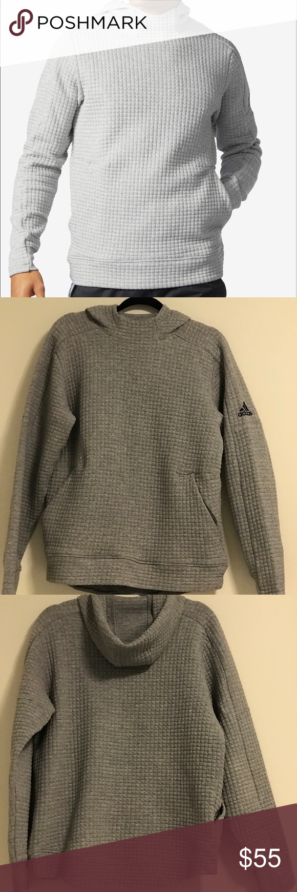 adidas quilted hoodie