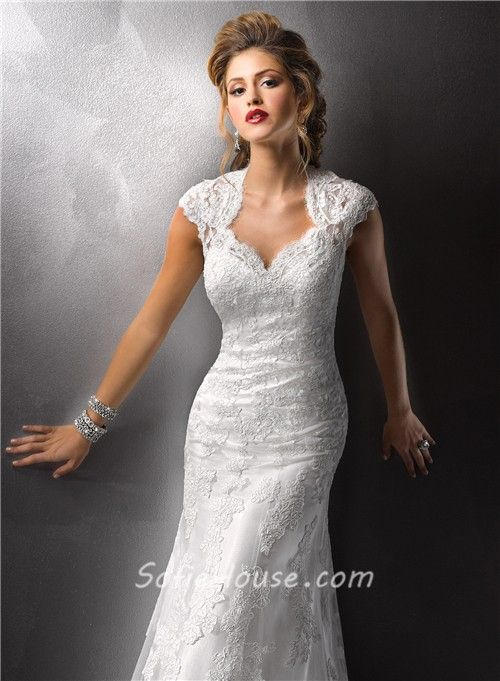 Sexy vintage lace wedding dress