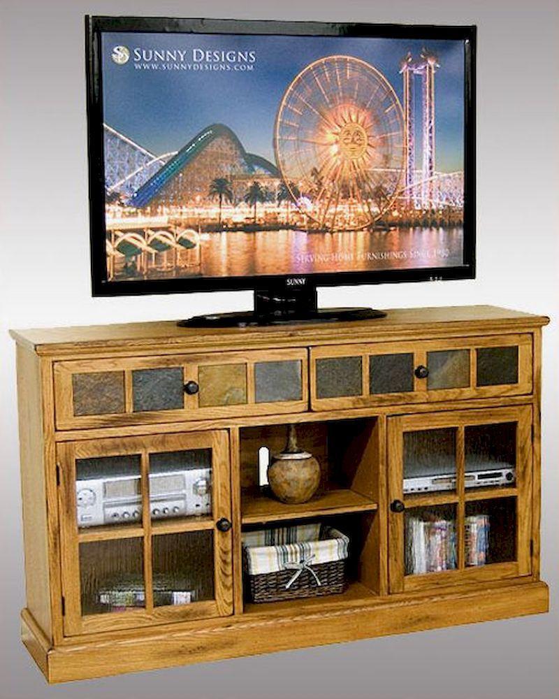 Bedroom height tv console design ideas Pinterest
