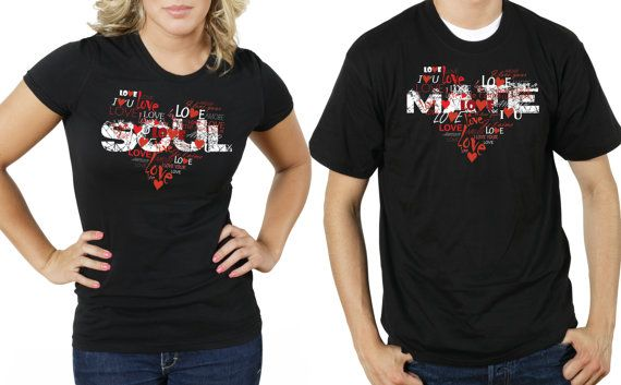 Couple Anniversary T Shirts Tees SOULMATE Gift For