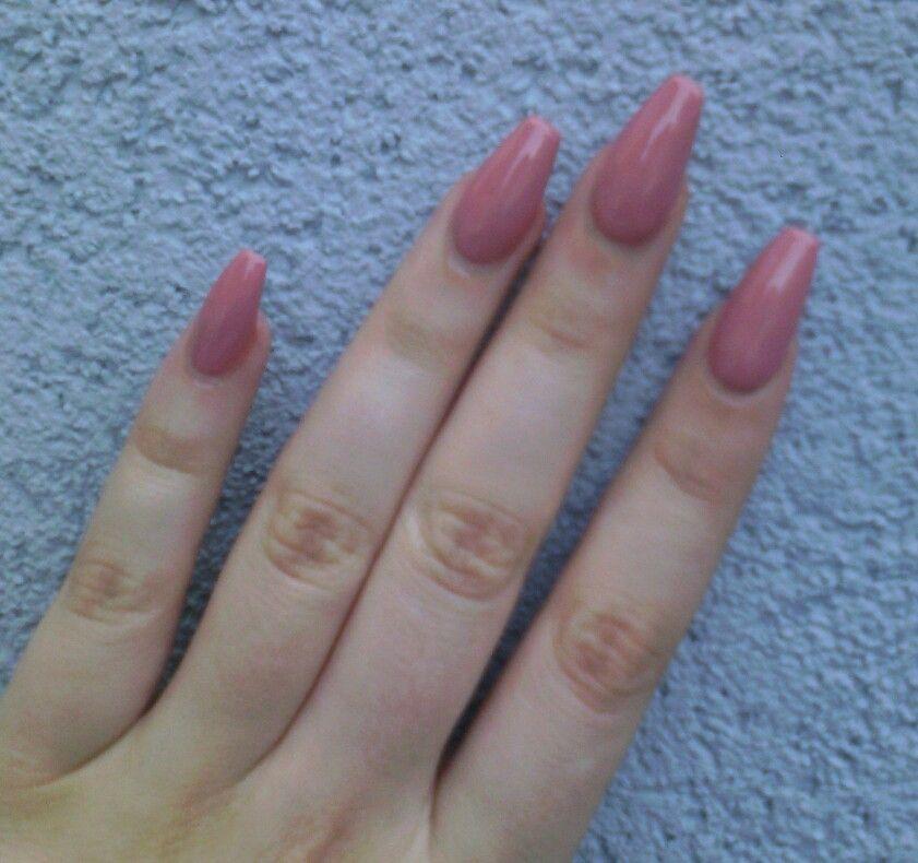Long ballerina gel nails @blondorien   nails   Pinterest