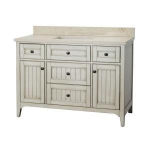 Photos Of Home Decorators Collection Klein in W x in D Bath Vanity in Antique White with Quartz Vanity Top in Beige