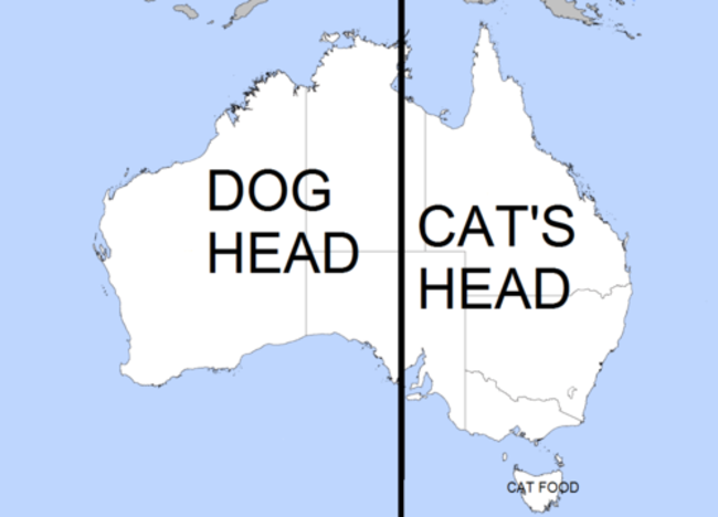 Australia is made up of a dog and cat head lol pinterest australia is made up of a dog and cat head gumiabroncs Image collections