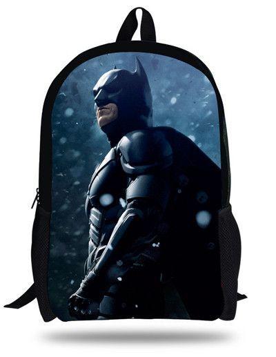 b532e8396b 16-inch Mochila Batman Bag Hero Backpack Kids Boys Age 7-13 Cool Bataman  Backpack Children School Bags For Teenagers