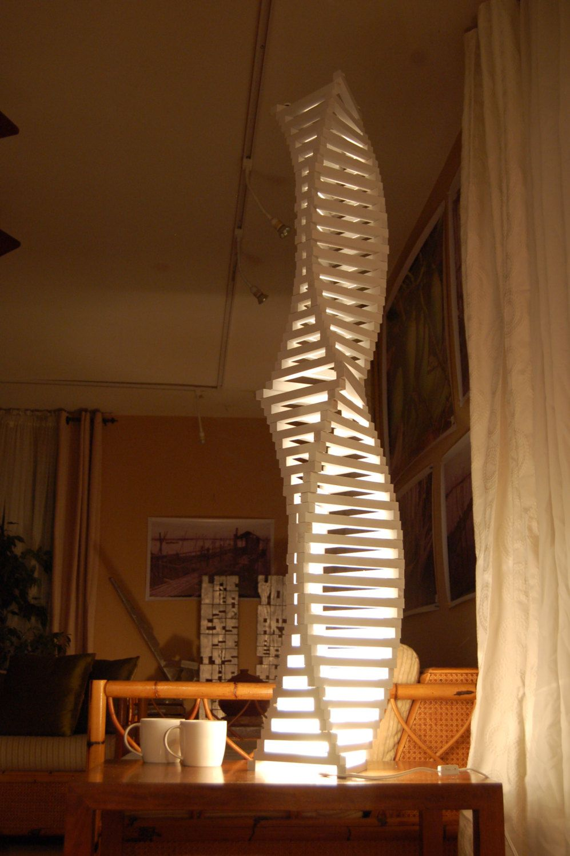 Turning Leaf Totem Lamp Modern Geometric Wood Architect