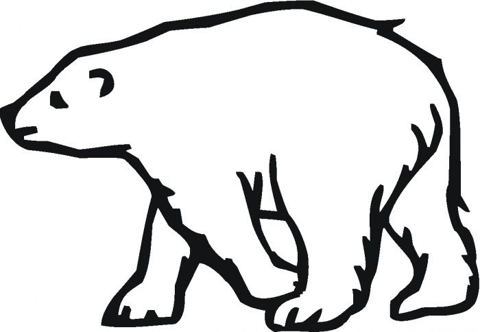 Polar Bear Color In Sheets Polar Bear Color Bear Coloring Pages