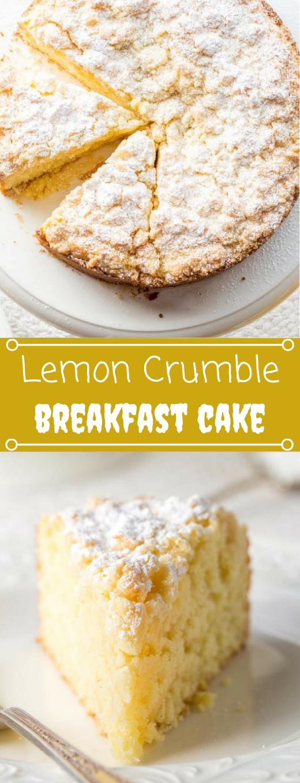 Lemon Crumble Breakfast Cake # Desserts # Kuchen #lemon #Frühstück #brownies   – Delicious Cookies & Cake