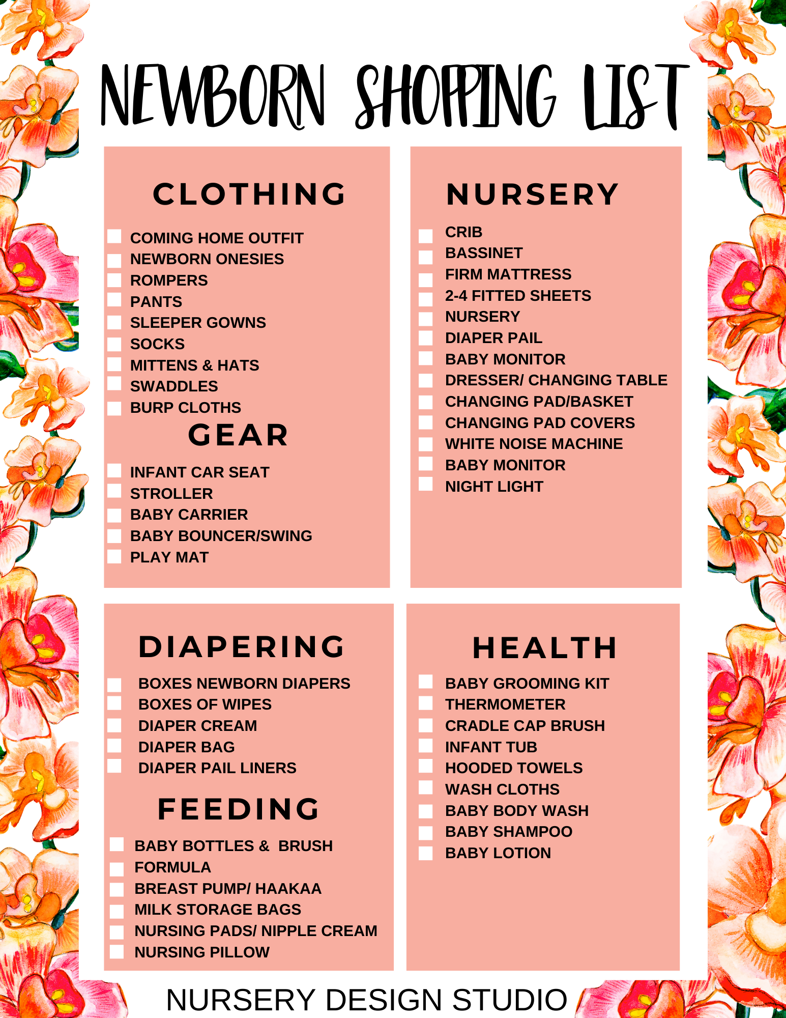 First Time Mummy Essentials What To Buy And Where To Get Them The Cambelles A Singapore Lifestyle Portal For W Baby Checklist Baby List New Baby Products
