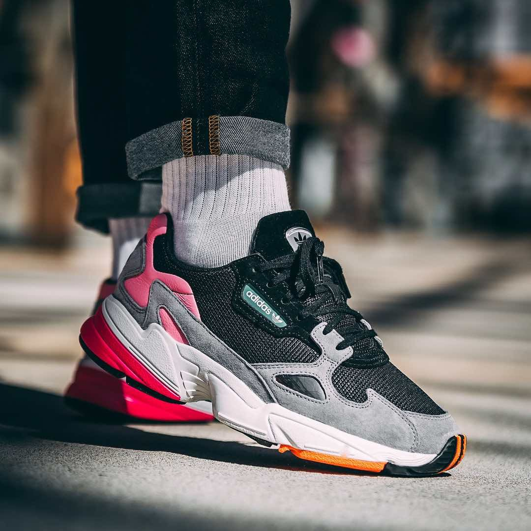 new product 9baa6 acd52 Release Date   June 2, 2018 Adidas Falcon Black   Granite Credit   Afew  Store