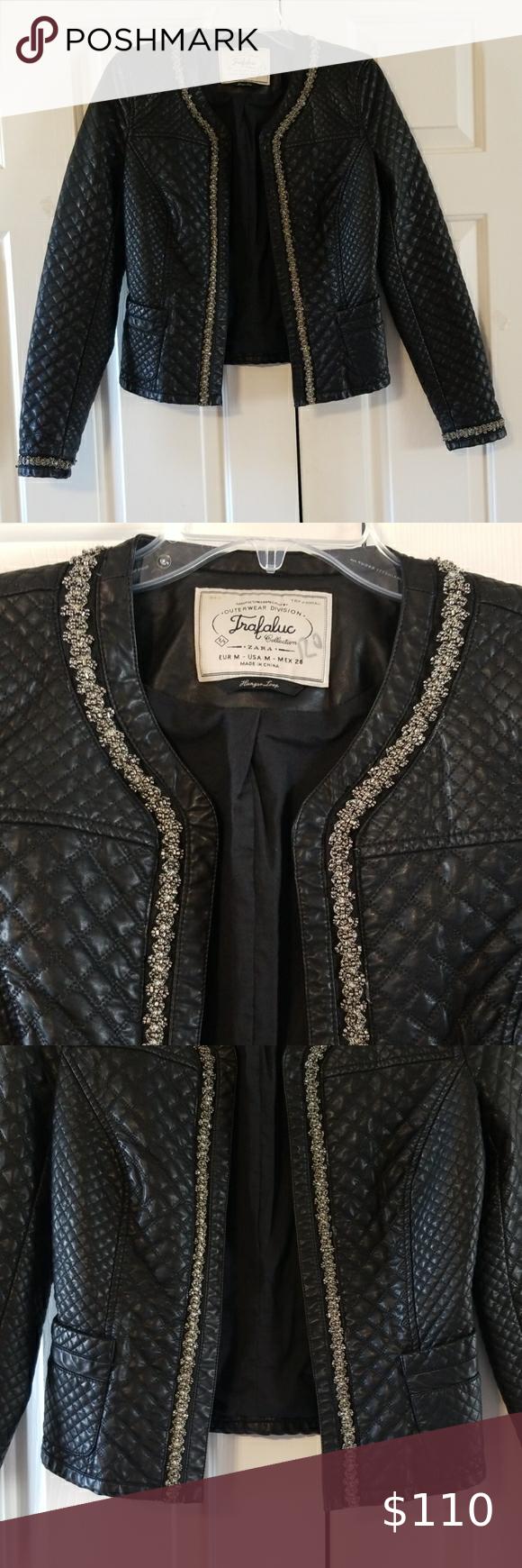 Zara Trafaluc Faux Leather Jacket Faux Leather Jackets Clothes Design Zara Leather Jacket [ 1740 x 580 Pixel ]