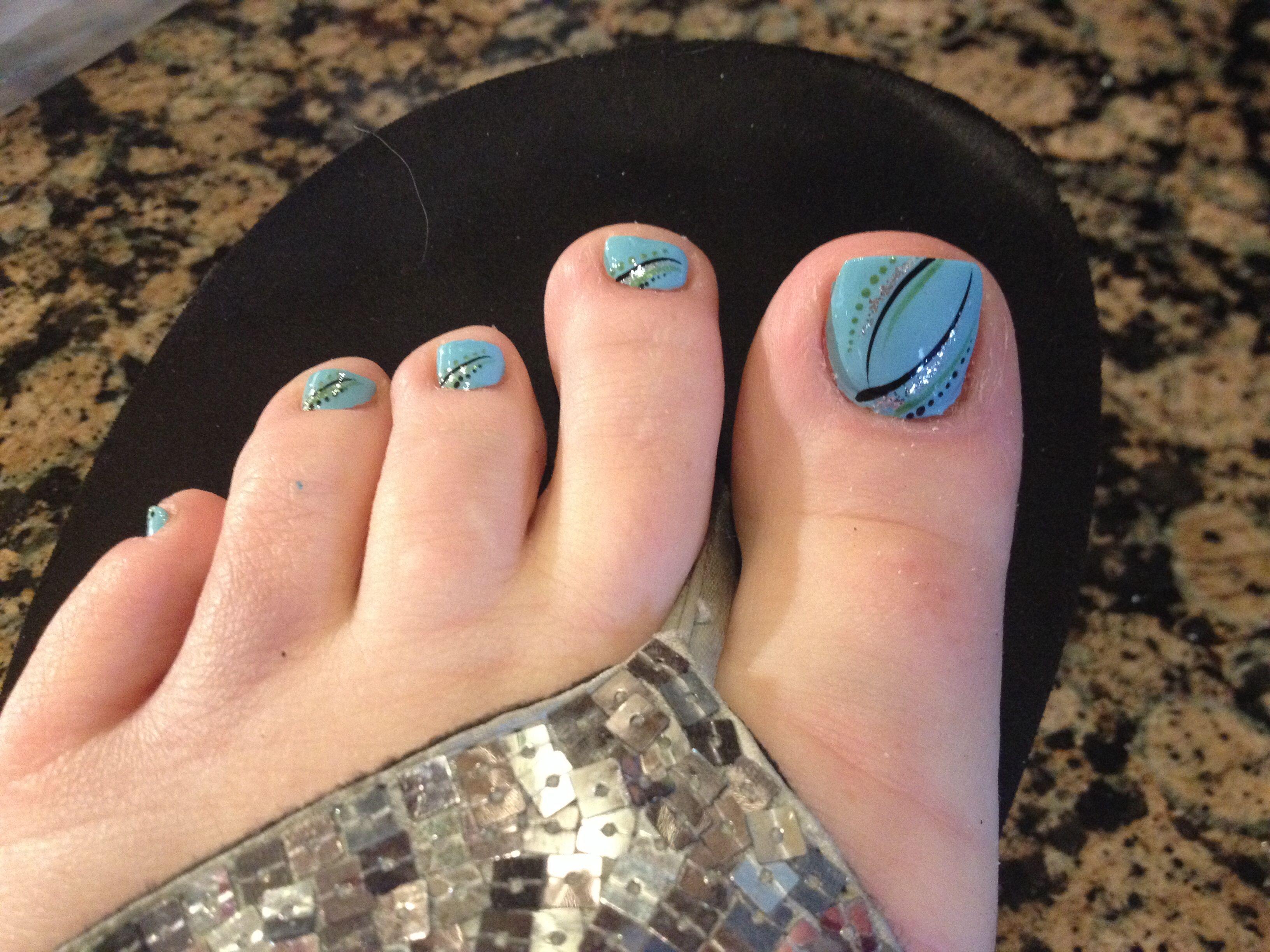Toe nails by Lisa at Gala Nails in Midland, Tx | Nails | Pinterest