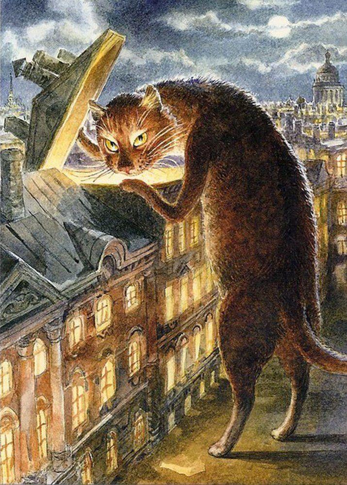 Сделать открытку, открытки с питерскими котами владимира румянцева