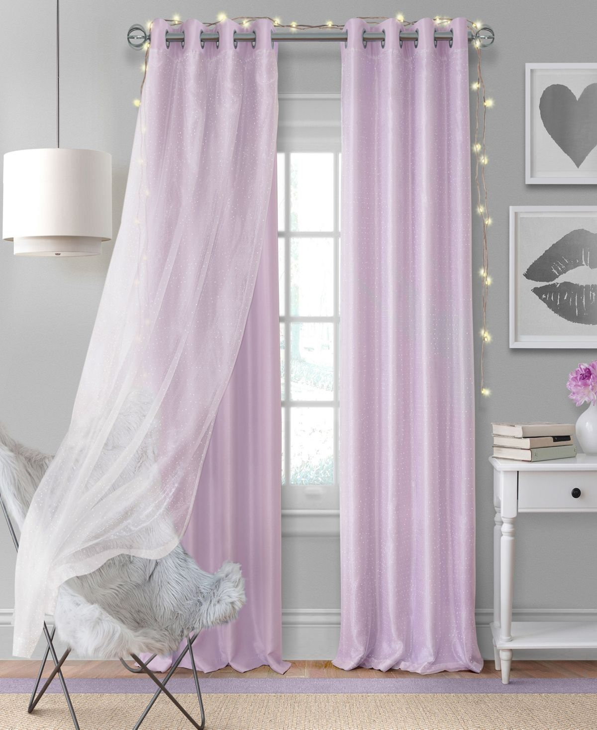 Elrene Aurora 52 X 63 Single Window Panel Lavender With