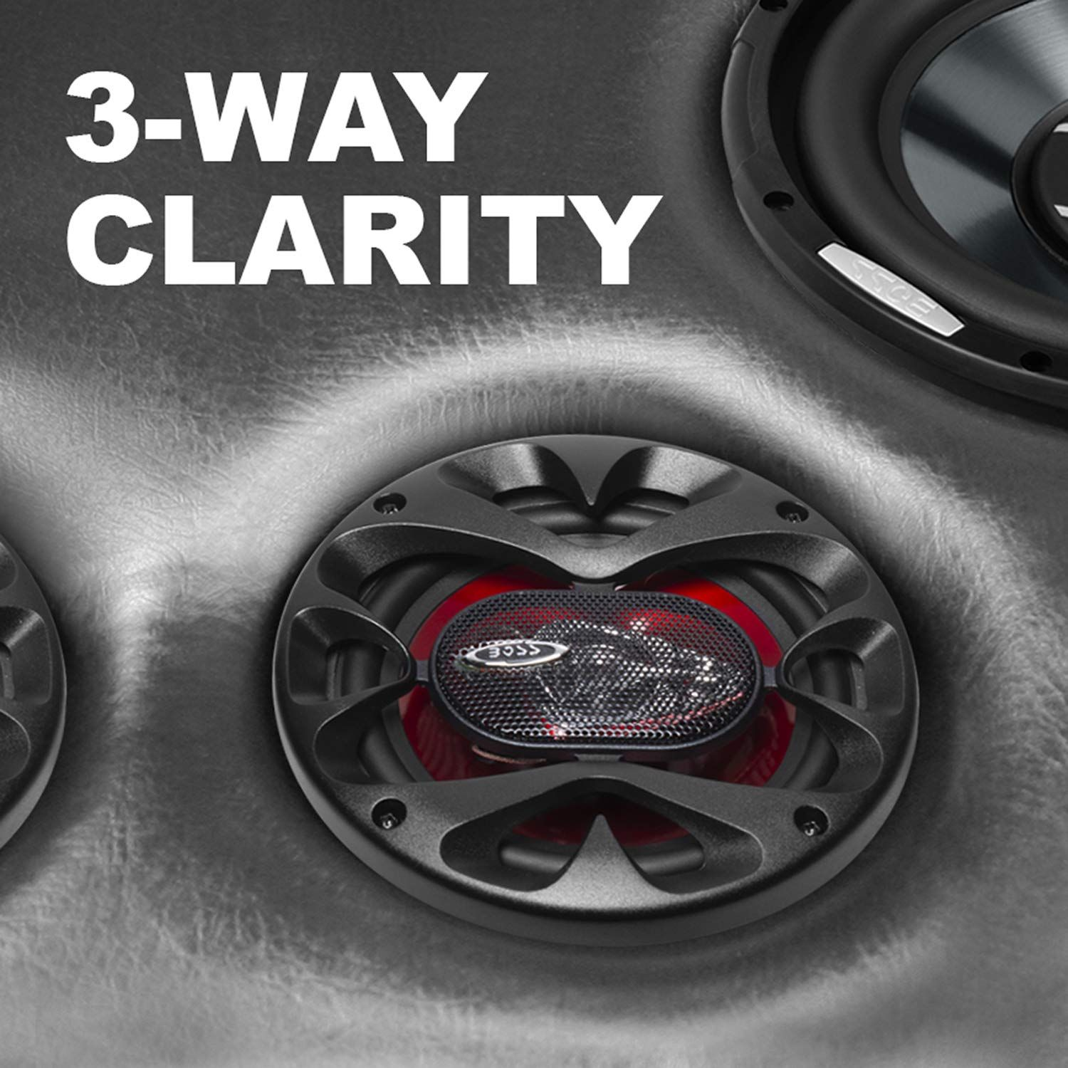 Sold in Pairs 300 Watts of Power Per Pair and 150 Watts Each 3 Way Full Range 6.5 Inch BOSS Audio CH6530 Car Speakers Easy Mounting