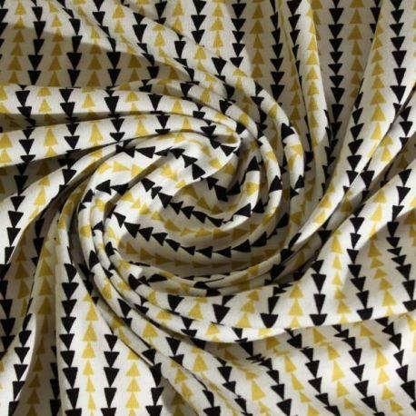 Très joli jersey de coton, graphique, idéal pour la réalisation de t-shirt. 100% coton bio, certifié GOST. Existe également en toile de coton.