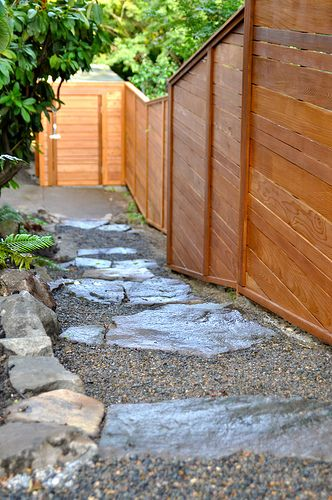 Great Look And On Uneven Ground With Images Modern Landscaping