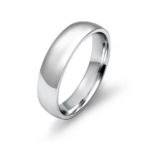 7.6g Men's Dome Wedding Band 5mm Comfort Fit Platinum Ring (4.5) $989.00
