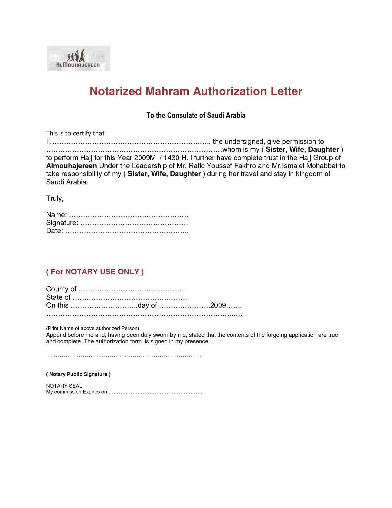 Authorization Letter Format Notarized Field Trip Permission Parents Jos Gandos Coloring Pages