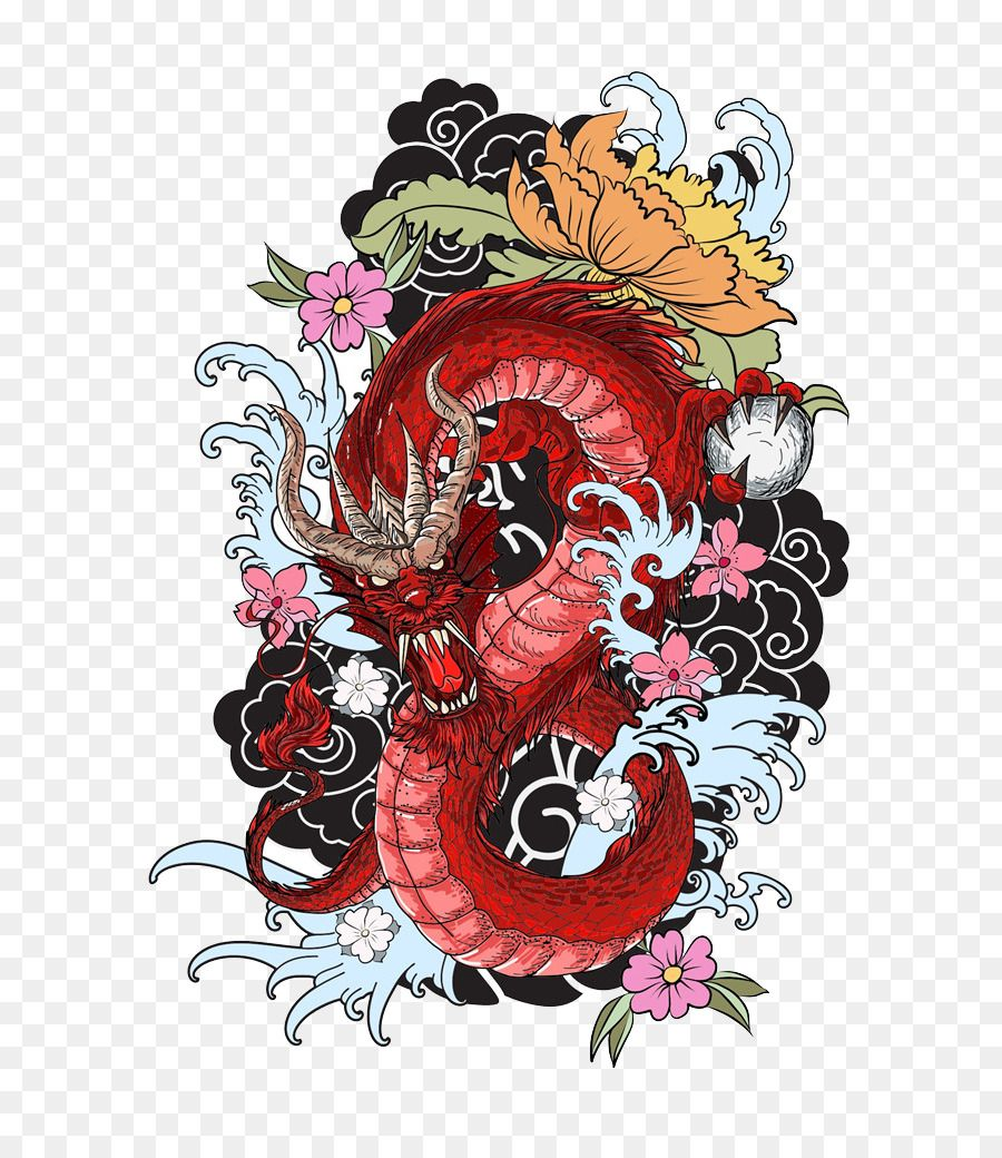 Tattoo Colouring Book Dragon Drawing Red Dragon Unlimited Download Kisspng Com Tattoo Coloring Book Dragon Tattoo Colour Japanese Tattoo Art