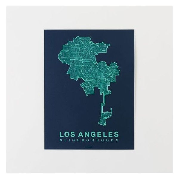 West Elm Native Maps Los Angeles White Aqua West Elm Wall Art 30 Liked On Polyvore Featur Map Wall Hanging Los Angeles Wall Art White Wall Art