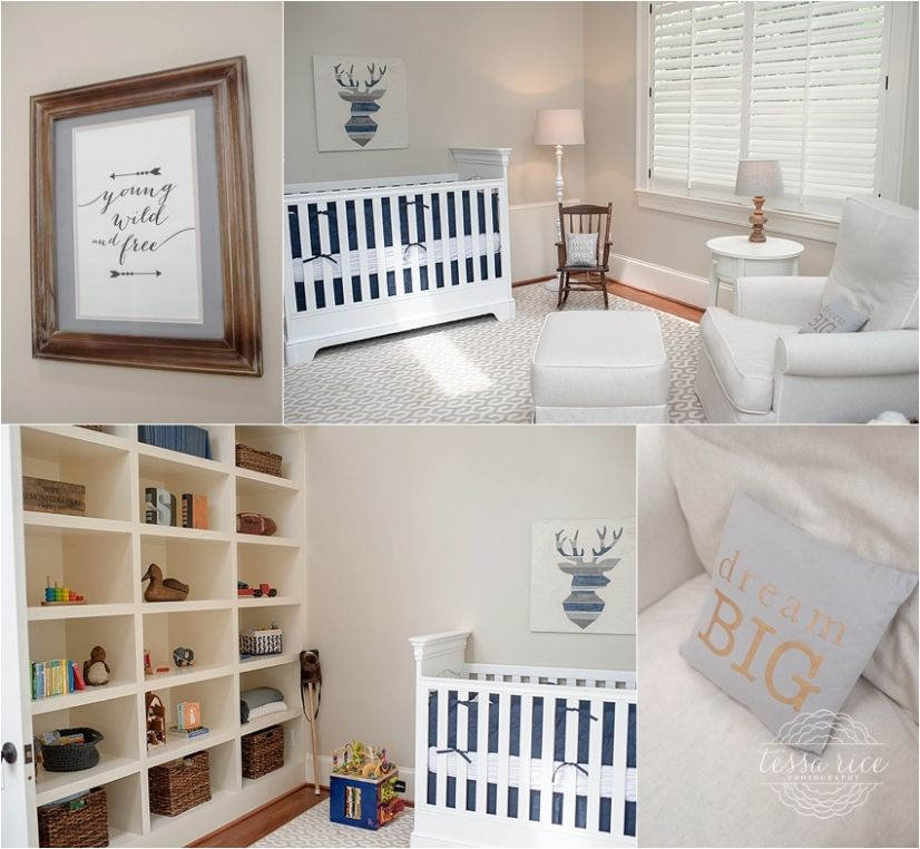 Atlanta lifestyle newborn photography.  Nursery details.  Boy's room.  © Tessa Rice Photography - tessarice.com