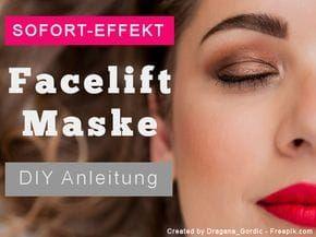 Facelift Maske Selbst Gemacht Der Sofort Effekt Der Straffenden
