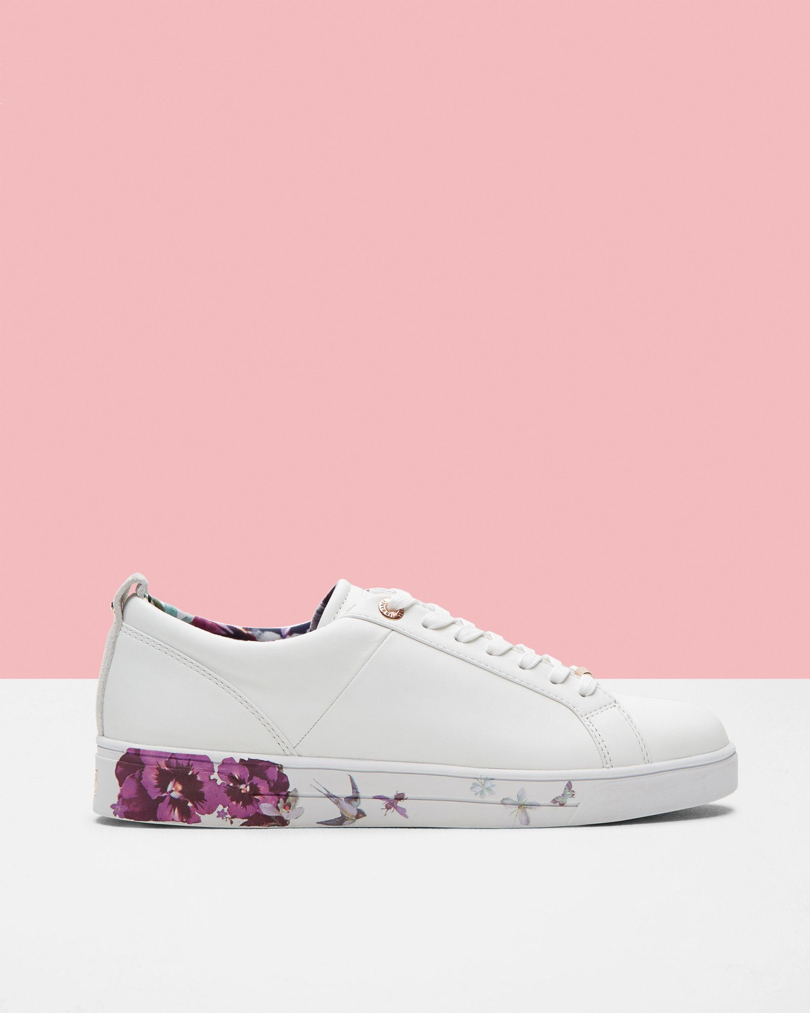 Printed sole trainers - White | Shoes | Ted Baker | Dope Fashion ...