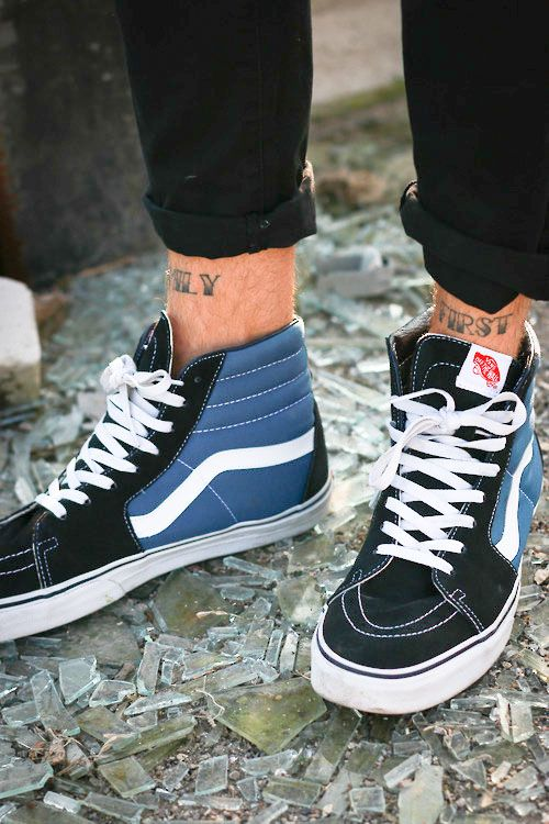 0fb47d0a2f Vans Sk8-Hi Reissue (Vintage) - Navy ~ 59.99  Get at Phase II  SIZE 12  Get  for biking   pin pedals