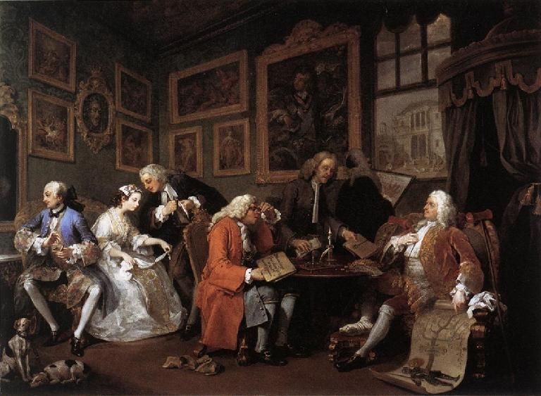William Hogarth The Marriage Contract From Marriage A La Mode