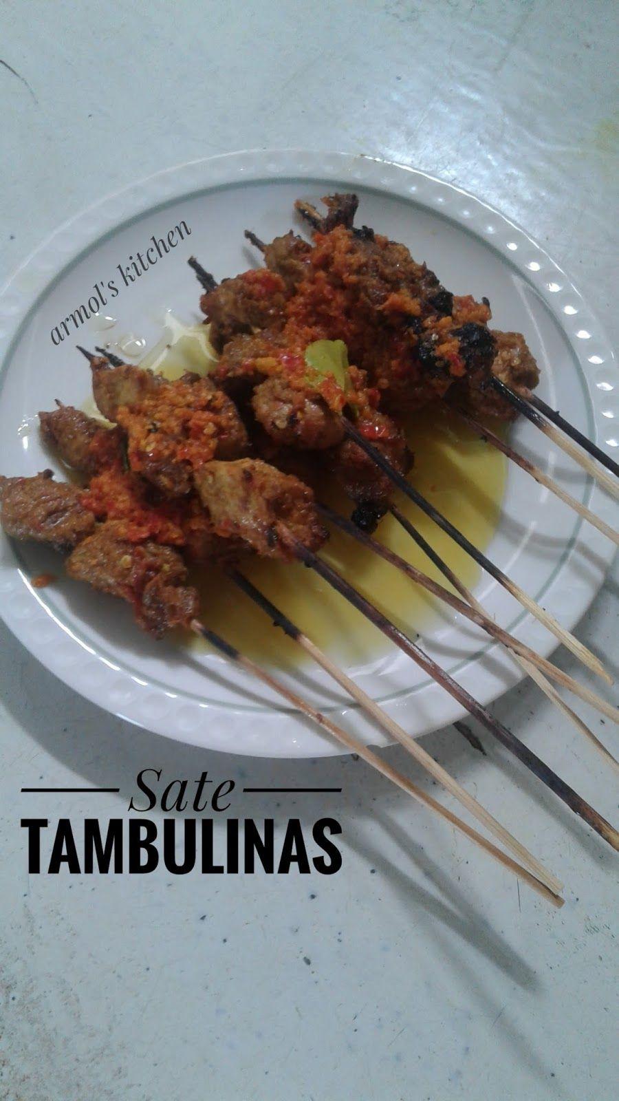 Resep Sate Tambulinas Resep Resep Masakan Resep Makanan