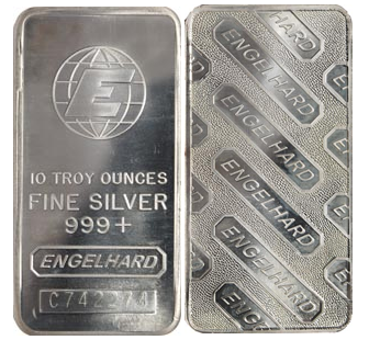 Silver Engelhard Silver Bullion Bars Sold In 1 Oz 10 Oz And 100 Oz Sizes Gold Bullion Coins Gold Bar Nyc Silver Bars