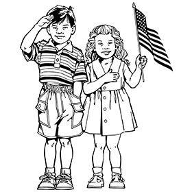 patriotic children coloring page