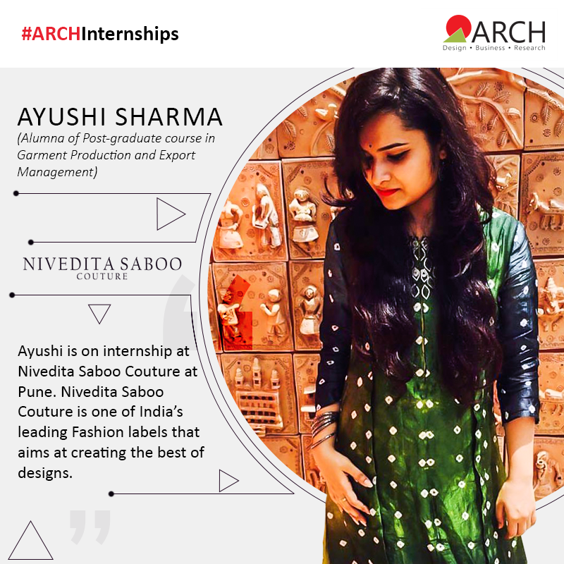 Ayushi Sharma Is An Alumna From The Post Graduate Course In Garment Production And Export Management This Professional Co College Design Design Fashion Labels