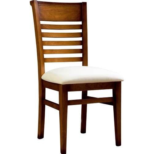 Silla de comedor con asiento pretapizado estructura Modelos de sillas de madera modernas