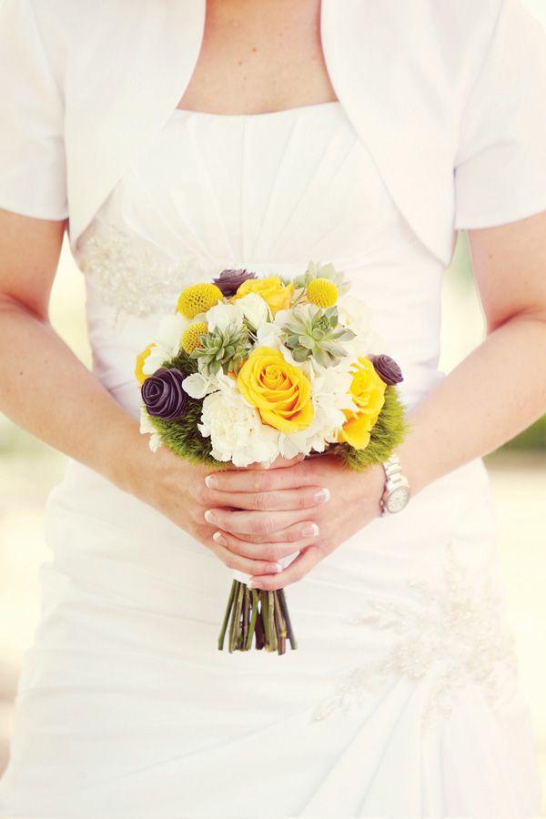 Modern yellow and gray wedding diy ideas wedding pinterest diy wedding bouquet ideas modern yellow and gray wedding diy ideas hostess with the mostess mightylinksfo