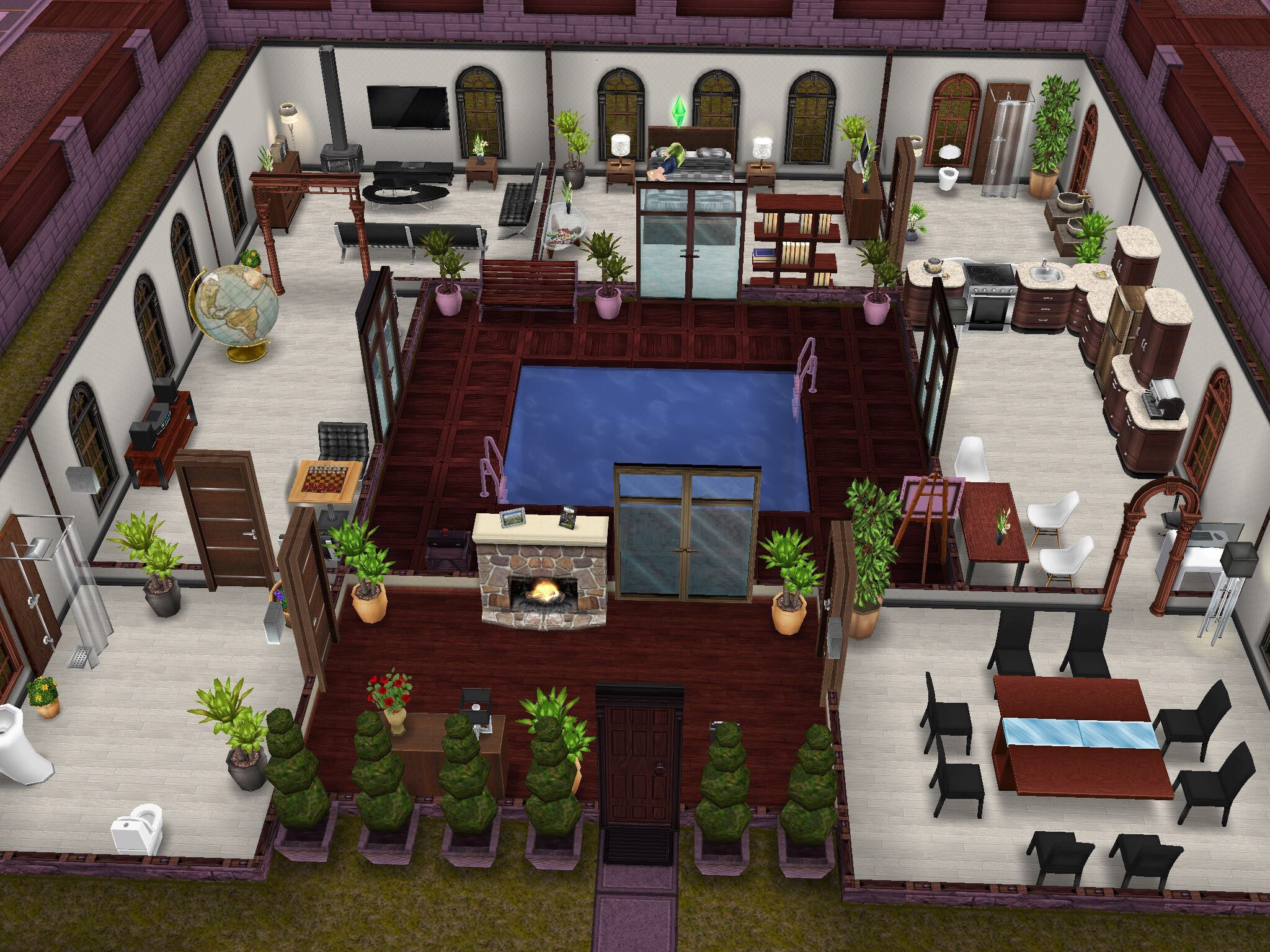 Sims simsfreeplay freeplay sims freeplay pinterest for Casa de diseno sims freeplay