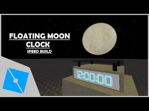 Roblox Studio Speedbuild Floating Moon Clock Youtube Moon
