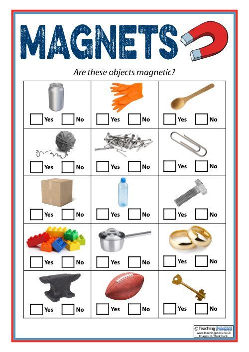 Magnetic Materials Worksheet Magnetic Material Science Magnet Unit