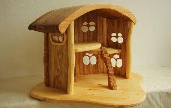 Holz Puppenhaus für Kinder, Kinder Spielzeug, Holz, Geschenk für Kinder, Geschenk für kleine Mädchen, Puppe, Haus, Holzhaus,