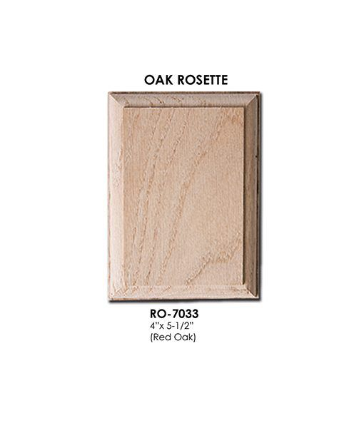 Best 7033 Rectangle Wall Rosette Solid Wood Install 640 x 480