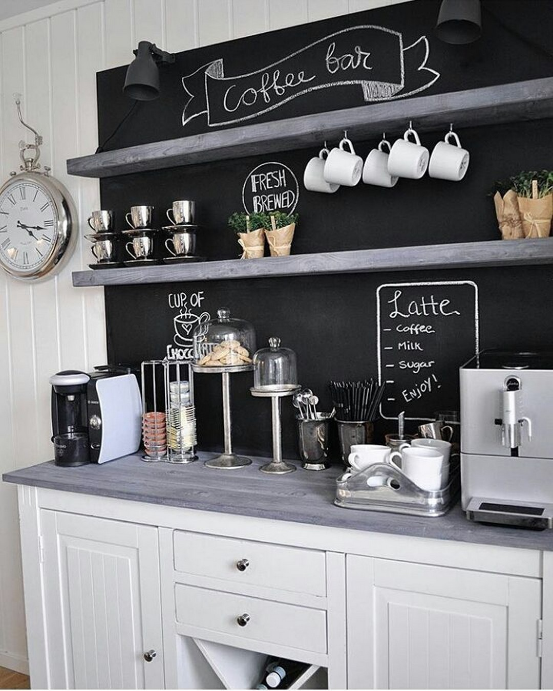 10 Diy Coffee Bar Cabinet Ideas For The Perfect Cup Of Joe Coffee Bar Home Coffee Station Kitchen Coffee Bars In Kitchen