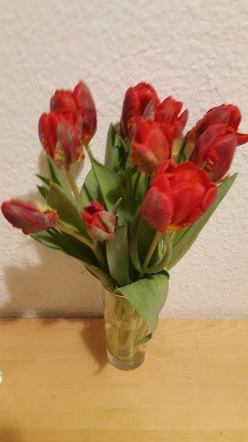 rote Tulpen, Berliner Tulpen, Taufgeschenk, Geschenkte Tulpen