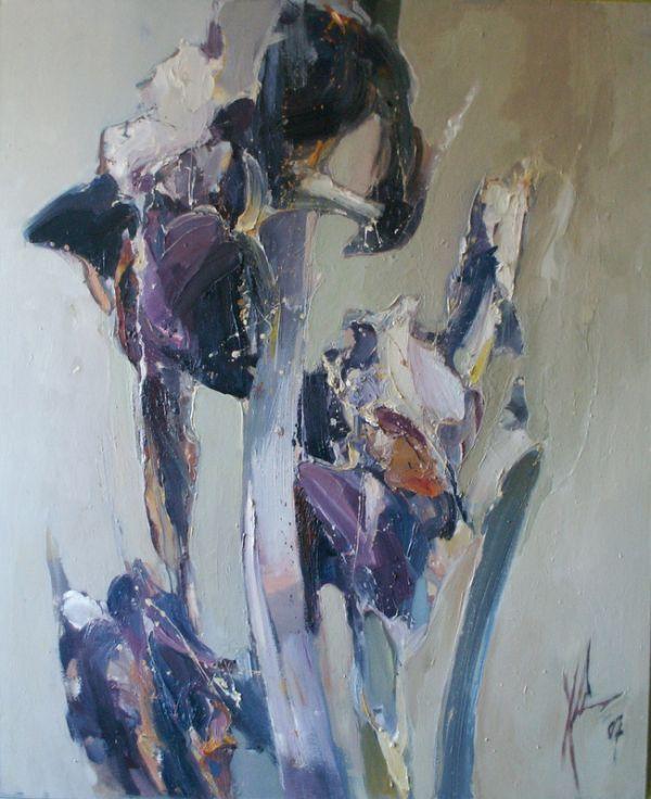 'Morning Irises' - Klaudiusz Abramski (b.1971)